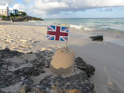 Photograph - British Sandcastle by Richard Reeve