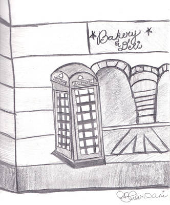 British Telephone Booth   Art Print by Melissa Vijay Bharwani