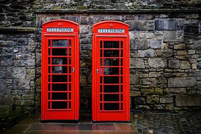 British Telephone Boxes Art Print