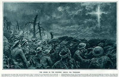 British Troops See The Cross Of Jesus Art Print by  Illustrated London News Ltd/Mar
