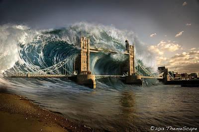 British Tsunami Art Print by T Dilley