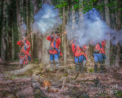 British Volley Fire Cook Forest Art Print by Randy Steele