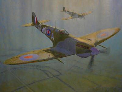 Painting - British Warbirds by Terry Perham