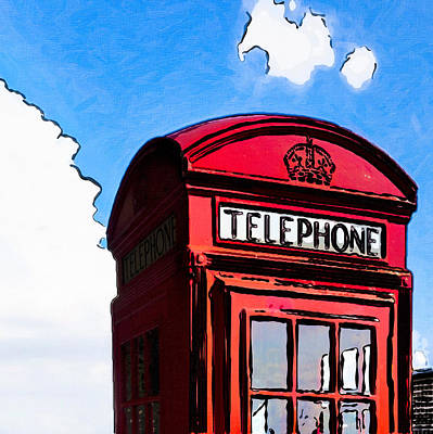 Photograph - British Whimsy - Telephone Box by Mark E Tisdale