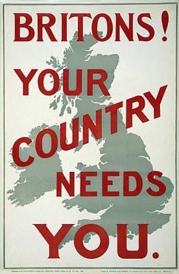 British World War One Plea 1914 Art Print