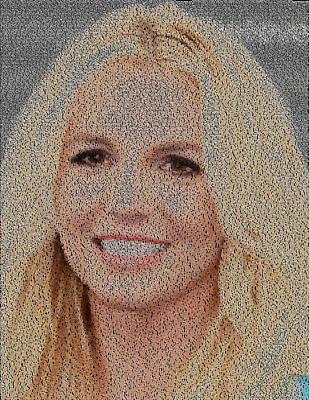 Britney Jean Spears Lyrics Mosaic Art Print
