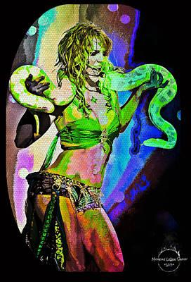 Britney Neon Dancer Art Print by Absinthe Art By Michelle LeAnn Scott