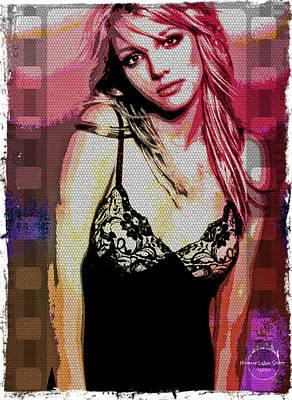 Britney - Pretty In Pink Art Print