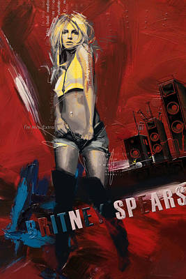 Rock And Roll Paintings - Britney Spears by Corporate Art Task Force