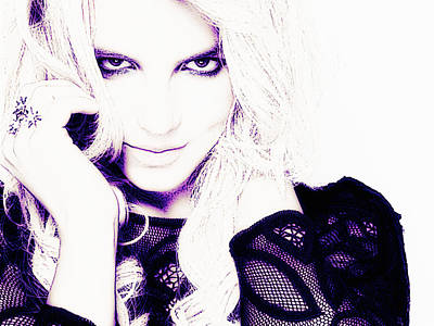 Britney Spears Photograph - Britney Spears by VRL Art