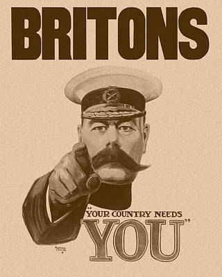 Britons Your Country Needs You  Art Print by War Is Hell Store