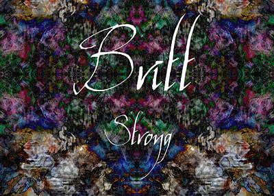 Britt - Strong Art Print by Christopher Gaston