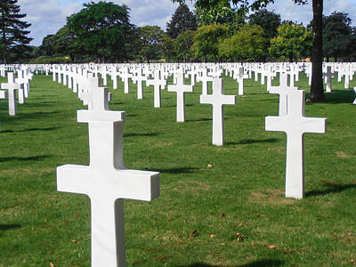 Photograph - Brittany American Cemetery 2 by Dany Lison