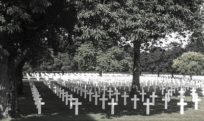 Photograph - Brittany American Cemetery 4 - France by Dany Lison