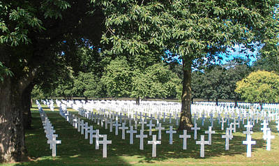 Photograph - Brittany American Cemetery - France by Dany Lison