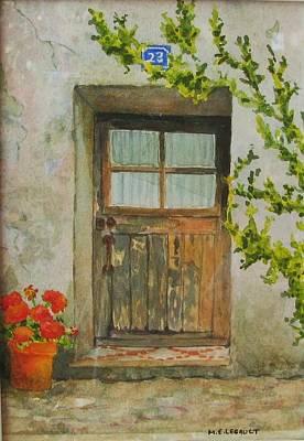 Brittany  Door Art Print by Mary Ellen Mueller Legault