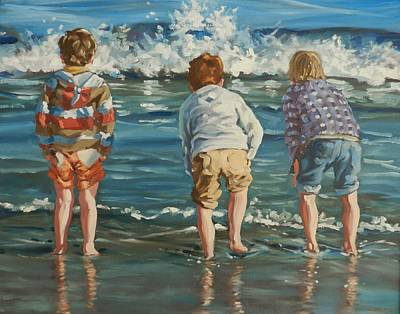 Painting - Brittas Boys by Robert Teeling