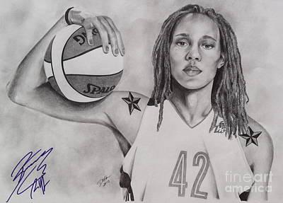Brittney Griner Strength Art Print by Devin Millington