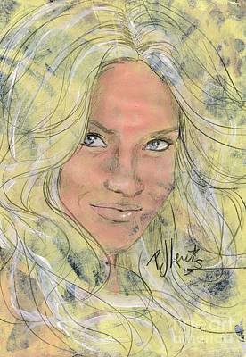 Famous People Drawing - Brittney by P J Lewis