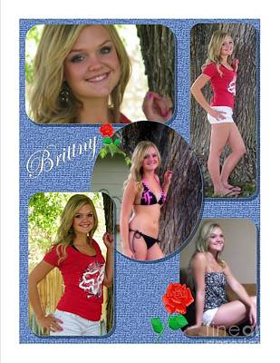 Photograph - Brittny Color Collage by Bobbee Rickard