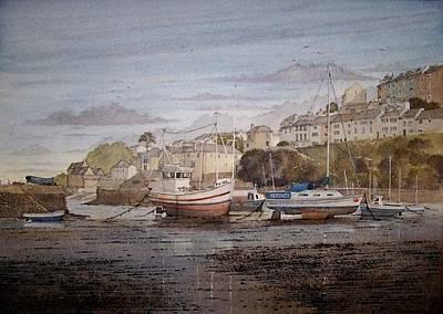 Brixham Harbour Painting - Brixham Harbour Devon by Andrew Lucas