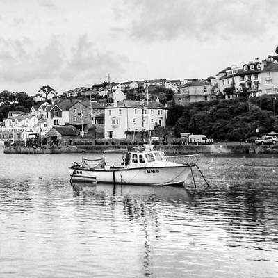 Angling Photograph - Brixham In Black by Sharon Lisa Clarke