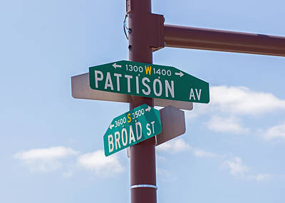 Linc Photograph - Broad And Pattison Where Philly Sports Happen by Photographic Arts And Design Studio