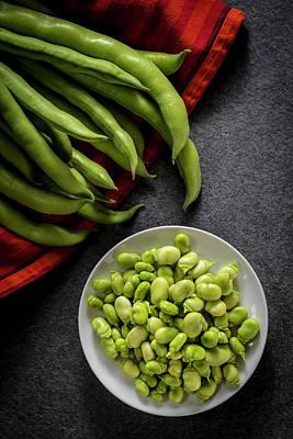 Broad Beans In A Bowl Art Print by Aberration Films Ltd