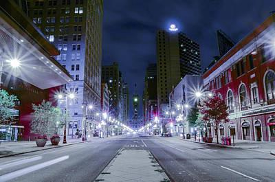 Broad Street At Night Art Print