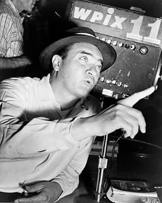 Recognize Photograph - Broadcaster Mel Allen 1955 by Mountain Dreams