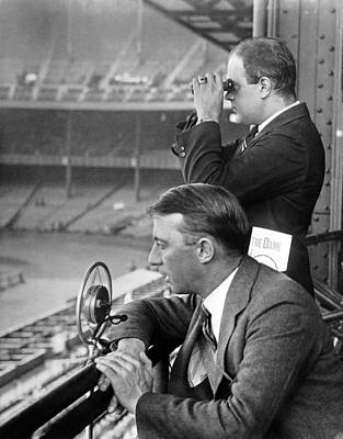 Football Game Photograph - Broadcasting A Football Game by Underwood Archives