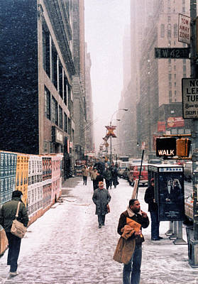 Photograph - Broadway And 42nd Street 1985 by Robert Meyers-Lussier