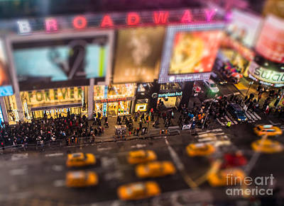 The Creative Minds Photograph - Broadway And 45th Street by Jerry Fornarotto