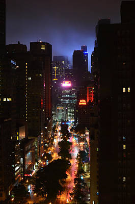 Photograph - Broadway And 72nd Street At Night by Deprise Brescia