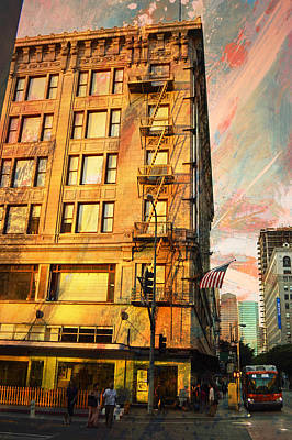 Broadway And Ninth Facing West Art Print by John Fish