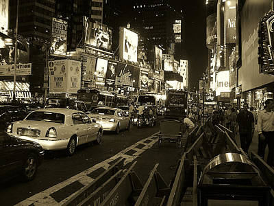 Photograph - Broadway At W 45th Street by John Schneider