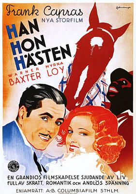 Films By Frank Capra Photograph - Broadway Bill, Aka Han Hon Hasten by Everett