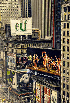 Photograph - Broadway Billboards by Dyle   Warren