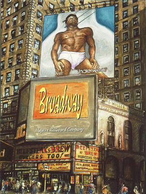 Painting - Broadway Billboards - New York Art by Peter Potter