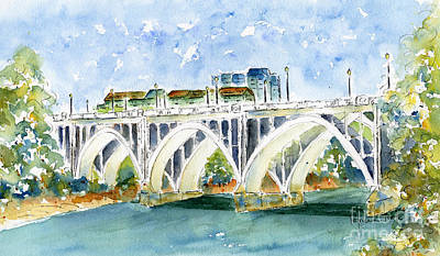 Painting - Broadway Bridge by Pat Katz