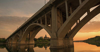 Broadway Bridge Spans The South Print by Panoramic Images