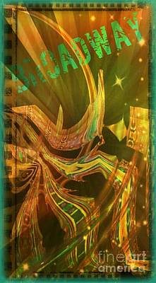 Streetscape Digital Art - Broadway by Cindy McClung