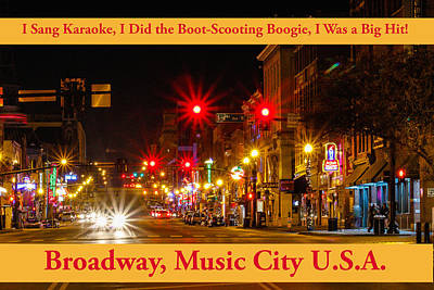 Photograph - Broadway Music City by Robert Hebert