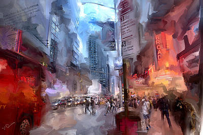 Broadway Nights Print by Evie Carrier
