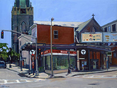 Southie Painting - Broadway Station by Deb Putnam