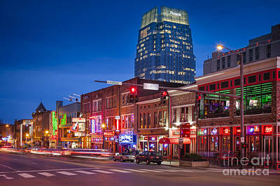 Downtown Nashville Photograph - Broadway Street Nashville by Brian Jannsen