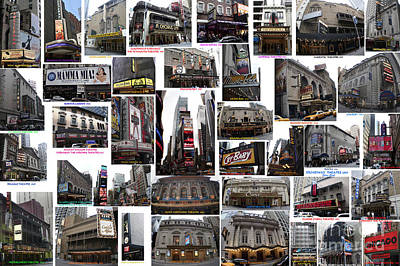 Photograph - Broadway Theatre Collage by Steven Spak