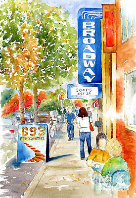 Broadway Theatre - Saskatoon Art Print by Pat Katz