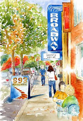 Autumn Scenes Painting - Broadway Theatre - Saskatoon by Pat Katz