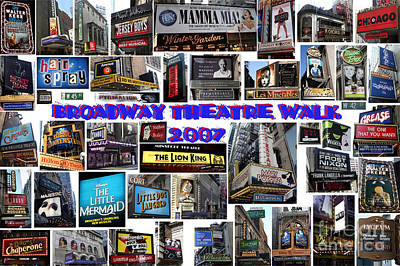 Digital Art - Broadway Theatre Walk 2007 Collage by Steven Spak